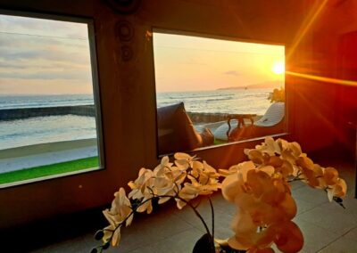Bali Villa Sunset over the ocean